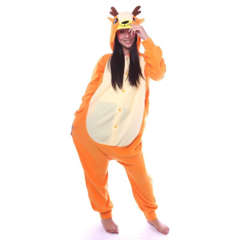 reh bambi jumpsuit schlafanzug pyjama kost m onesie. Black Bedroom Furniture Sets. Home Design Ideas
