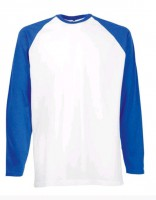 Baseball Shirts Raglan Shirt rotweiss oder blauweiss Fruit of the Loom (sofort lieferbar)