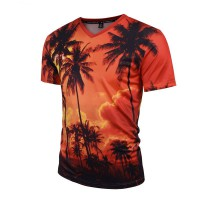 3D T-Shirt Palmen Hawaii Sonnenuntergang Sunset (sofort lieferbar)