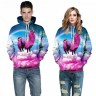 3D Pullover mit Kapuze (Hoodie) Pink Lama (2x Gr. S/M sofort lieferbar)
